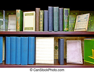 Old books - Lot of medieval old books close up