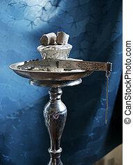 Oriental hookah - A traditional oriental hookah or...