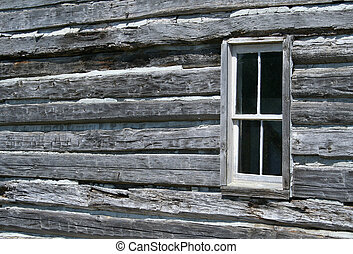Log Cabin Window - The window in an old log cabin