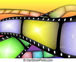 filmstrip abstract - abstract image of rolls of filmstrip or...