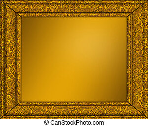 picture frame - an old gold picture or certificate frame...