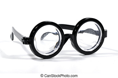 Eyeglasses - Photo of Black Rimmed Eyeglasses - Bifocals