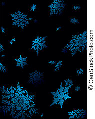 snowflake fall - Illustration of snowflake falling in a...