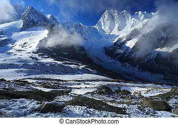 Les Grandes Jorasses, Haute Savoie, France