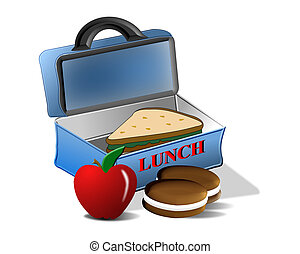escola, almoço