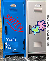 School Violence 1 is a picture of school lockers with the...