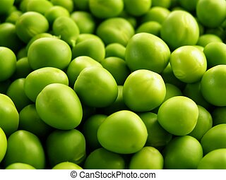 lots of green peas - Close-up of green peas to be used as a...