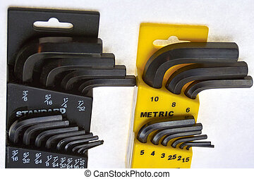 Allen Wrenches - Sets of metric and standard allen wrenches
