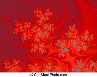 Christmas Tree - Fractal rendition of a christmas tree with...