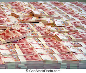 CHINESE MONEY  - Many Chinese money in the room
