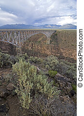 Gorge bridge, NM, US - Gorge Bridge, Taos, New Mexico