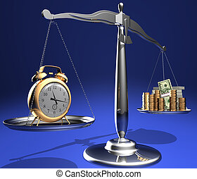 Time is money - The relationship between time and money....