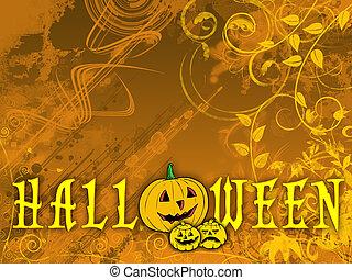 Floral Halloween backgrou