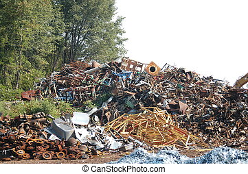 Junk pile - Pile of junk at a scrap yard