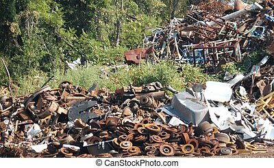 Junk pile - Scrap metal at an old junk heap