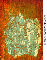 orange background with paint - abstract textile orange...