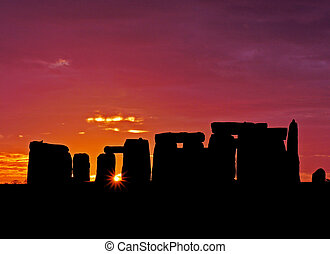 Stonehenge Dawn  - Stone henge at Dawn