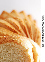 bread slices tower perspective - Spiral tower from toast...