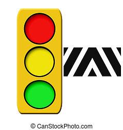 traffic light illustrated