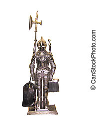 The knight - Set for a fireplace - the knight in an armour...