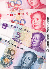 Chinese Currency - Chinese money, RMB, close up shot