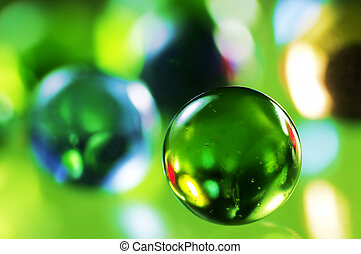 Sphere - Green glass spheres