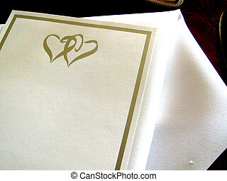 Wedding Invitation - A shot of a beautiful white wedding...