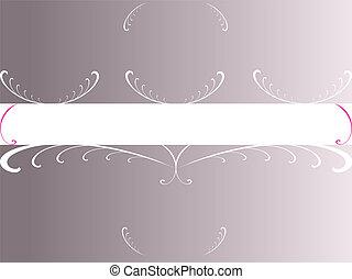 Grey Foral Copyspace - Grey Floral Copyspace - (Vector...
