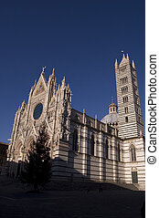 Siena, Duomo Cathedral - View of Duomo Cathedral in Siena,...