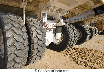 Big wheels - The wheels of a earth moving mining trucks