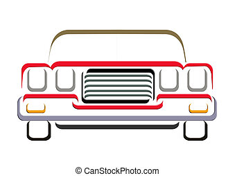 CAR LINE ART - An illustration of muscle car line art