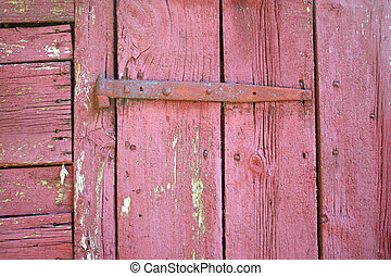 Old Door hinge - A hinge on a old barn door