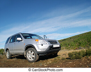 Offroad car - Family car in the countryside
