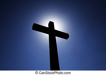 Cross - Abstract illustration of a vision of a cross...