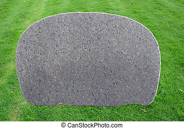 Blank Tombstone - Blank tombstone on grass