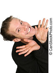 Expressions - Thirty-three year old caucasian man making...