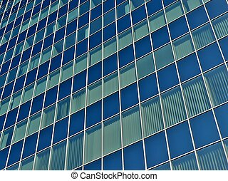 Offices building windows in Warsaw Poland