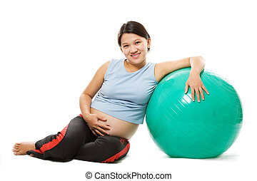 Pregnant woman - A shot of a beautiful pregnant woman with...