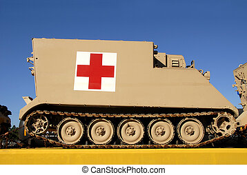 Medical Transport - A military medical transport vehicle...