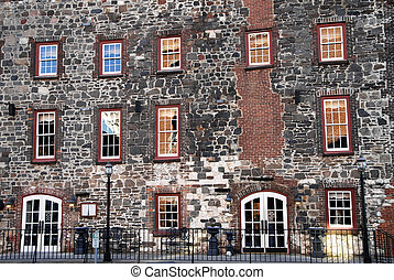 Historic Building Facade - Front Facade of a Historic River...