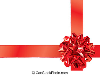 Gift Bow - Red Gift Bow (XXL jpeg made from vector)