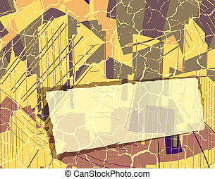 City background - Design of an abstract city with banner