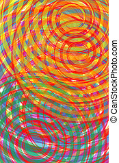 Spiral. Computer-generated image with vivid and striking...