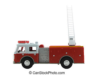 Fire Truck - Firetruck isolated on a white background