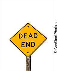 Dead End - Dead end road sign isolated on white