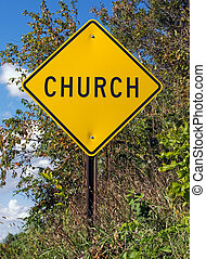 Church Sign - Church road sign