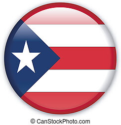 Button Puerto Rico - Button with map from Puerto Rico