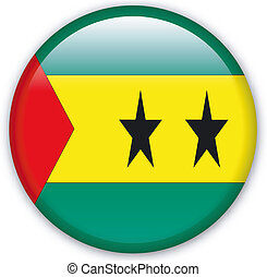 Button Sao Tome - Button with map from Sao Tome and Principe...