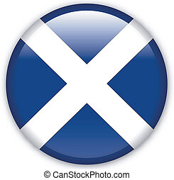 Button Scotland - Button with map from Scotland