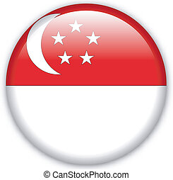 Button Singapore - Button with map from Singapore